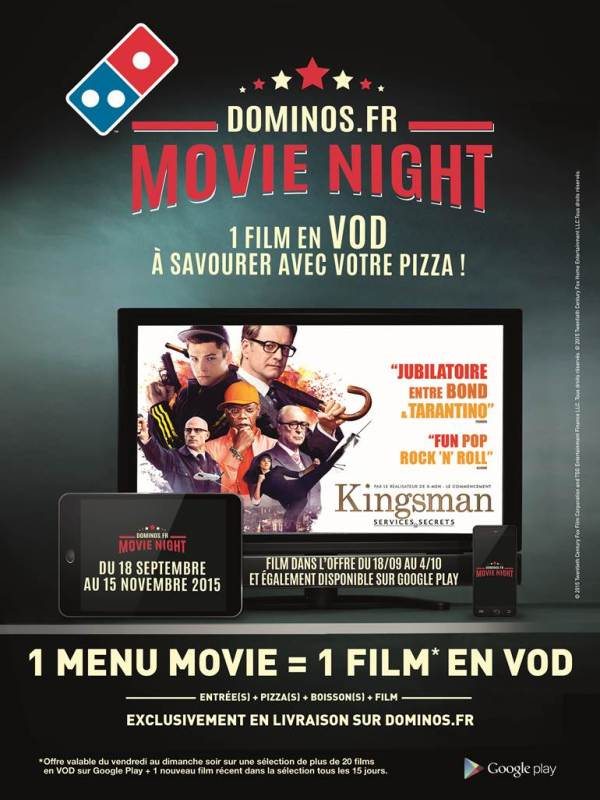 Domino's - Menu Movie Night