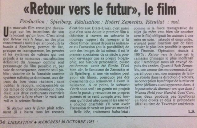 critique libération retour vers le futur