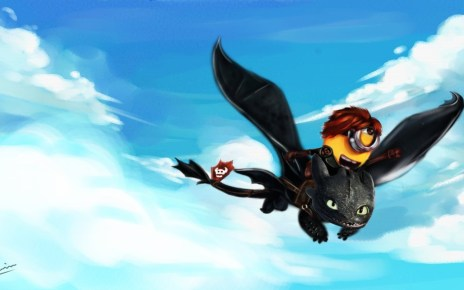 comcast - Comcast rachète Dreamworks pour 3.8 milliards de dollars Minion on Toothless