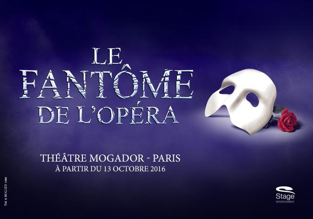 comédie musicale - Soyez prêt pour Le Fantôme de l'Opéra au théâtre Mogador !