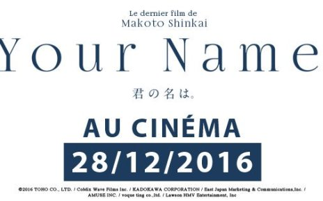 your name - Your Name, carton au Japon, arrive en France pour la fin d'année your name