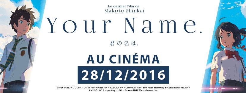 your name - Your Name, carton au Japon, arrive en France pour la fin d'année your name