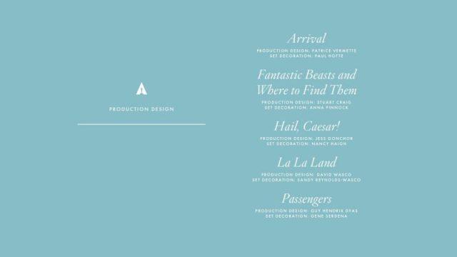 nominations - Oscars : 14 nominations pour La La Land NOMINATIONS oscars 1 10