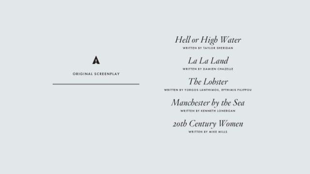 nominations - Oscars : 14 nominations pour La La Land NOMINATIONS oscars 1 17