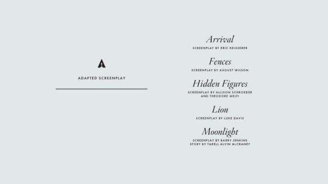 nominations - Oscars : 14 nominations pour La La Land NOMINATIONS oscars 1 19
