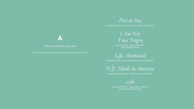 nominations - Oscars : 14 nominations pour La La Land NOMINATIONS oscars 1 4