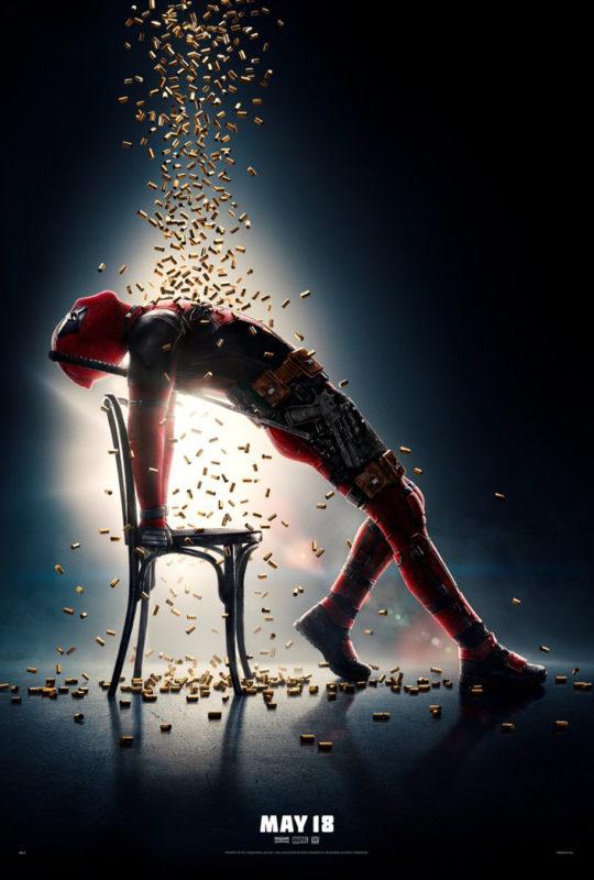 deadpool - L'actu des suites : Deadpool 2 et Jessica Jones saison 2 deadpool bullet shower poster main