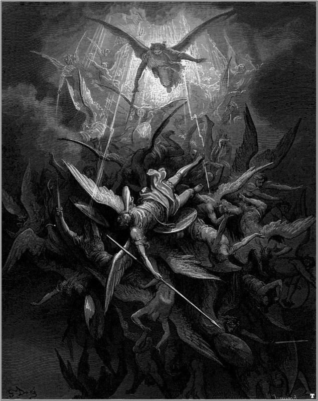 - Les oeuvres d'art dans les films et séries Gustave Doré illustrations for Milton Paradise Lost.