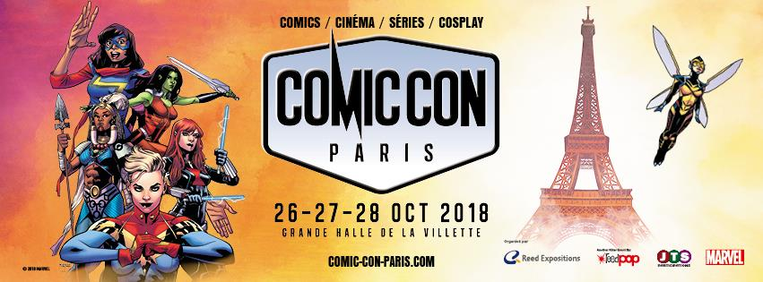 comic-con paris - COMIC CON PARIS : le programme détaillé comic con paris 2018