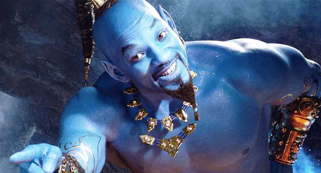 Actu des remakes - Aladdin : un rêve bleu, n'est-ce pas merveilleux? Enfin une bande-annonce ! aladdin will smith se decouvre en genie bleu video 649