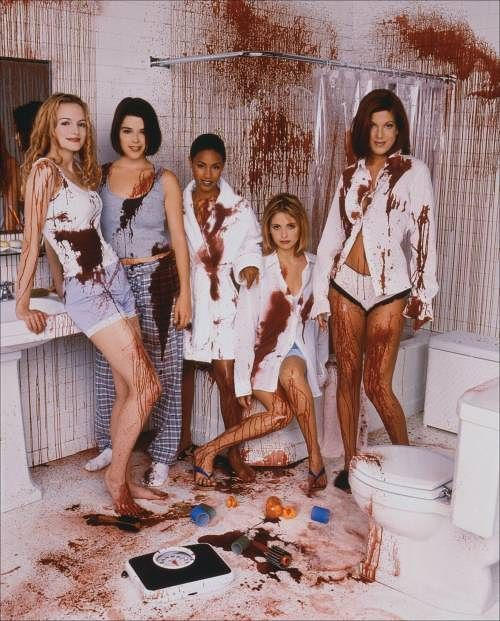 années teen - Les Années Teen : l'influence Scream / partie 1 scream 2 cast girls ghostface girls debate which is the best scream sequel png 237023