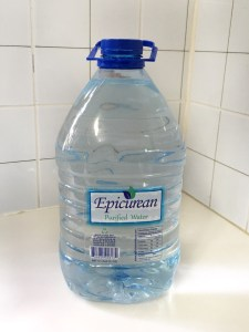 2 liters of water in plastic bottle