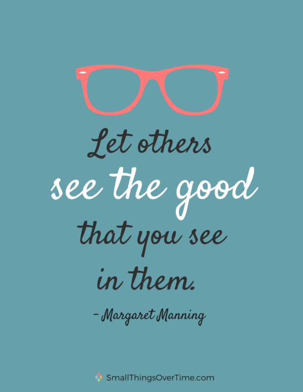 Learn how to give compliments and say something nice. See the good.