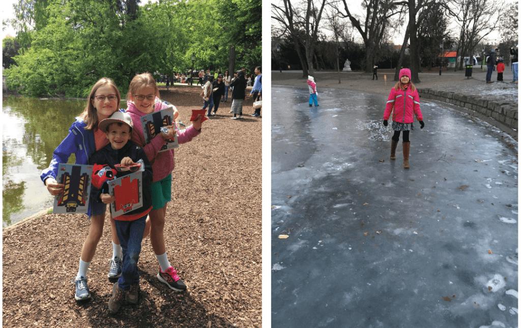 kids having fun at parks around Vienna