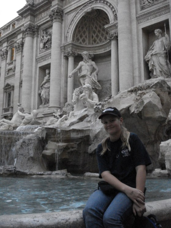 trevi fountain and holly