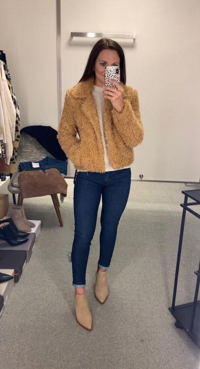 BLANKNYC Faux Fur Teddy Bear Coat