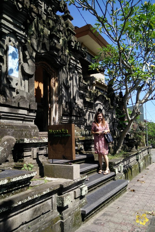 My friend Hershe posing in front of Narendra Guest House, our incredible homestay