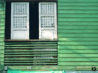 Wooden walls and capiz shell windows are typical of old Filipino houses