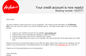 Air Asia credit shell