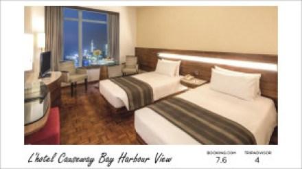 Hong Kong hotels - L'hotel Causeway Bay Harbour View
