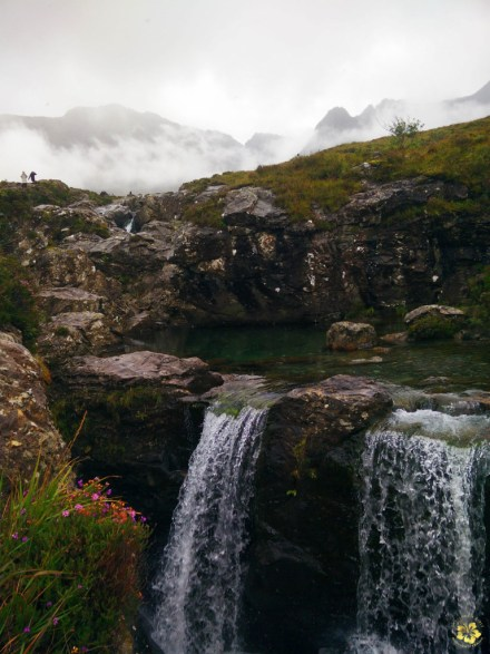 At the fairy pools in Skye