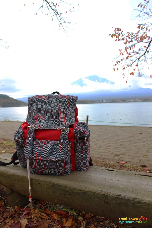 SGMT Japan Lake Kawaguchi Momiji Kairo 14 Mount Fuji and Northloom Miguee backpack