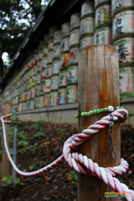 SGMT Japan Tokyo Meiji Shrine 10 sake wooden post
