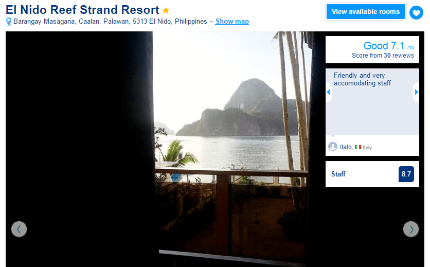 Where to stay in El Nido - El Nido Reef Strand Resort