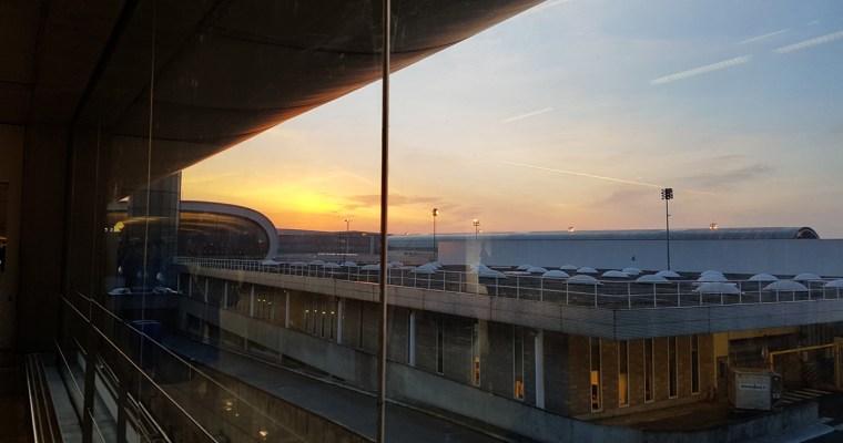 Three Mornings, Three Airports