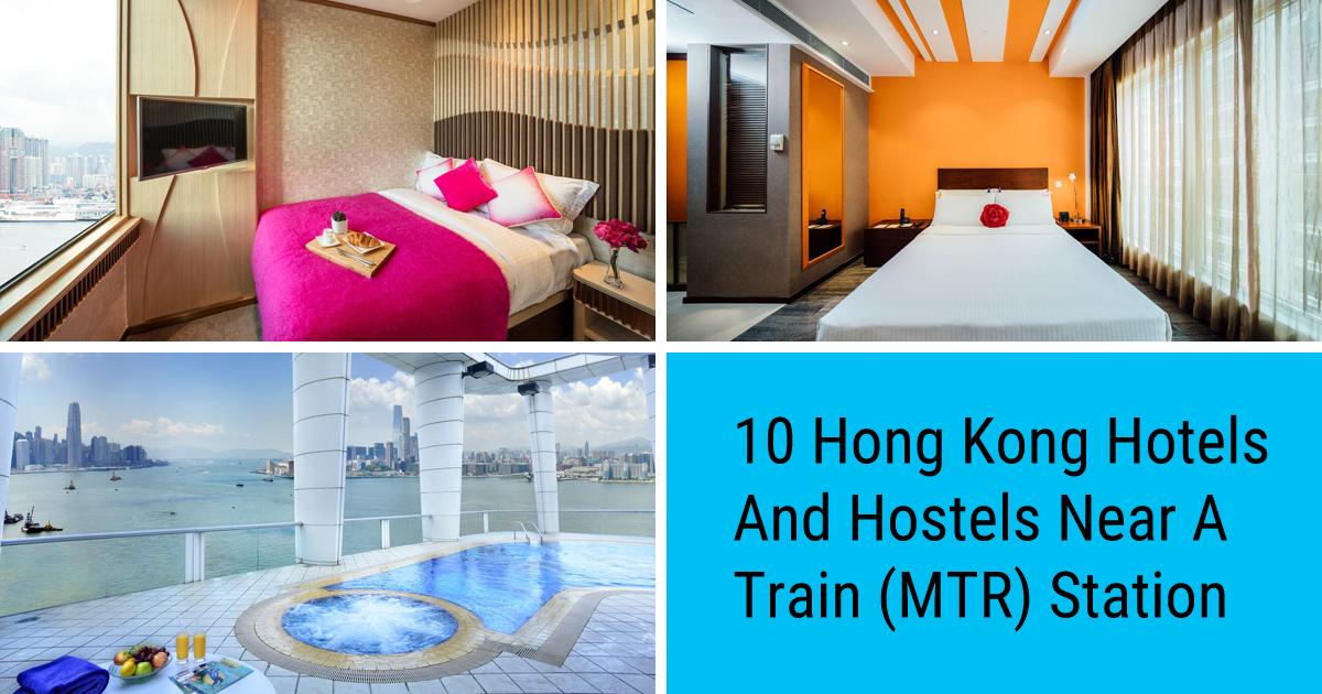 Hong Kong hostels and hotels near an MTR station