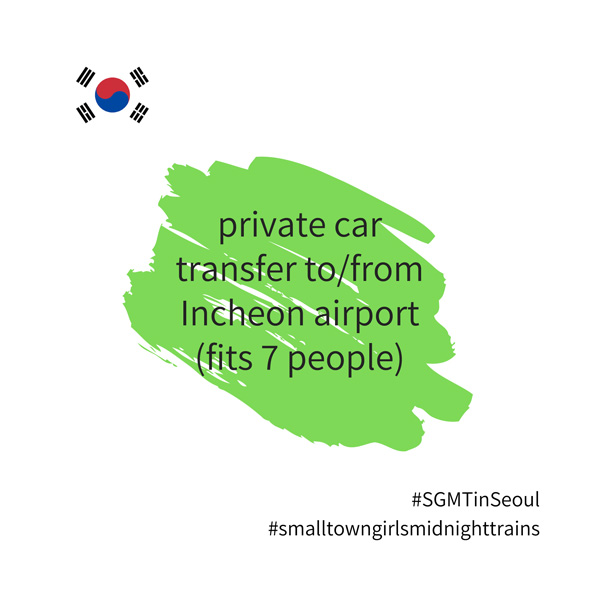 SGMT | Seoul | Private transfer to or from Incheon Airport