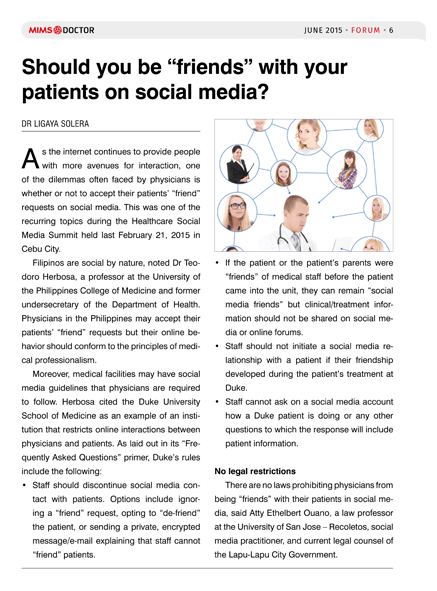 """Should you be """"friends"""" with your patients on social media?"""