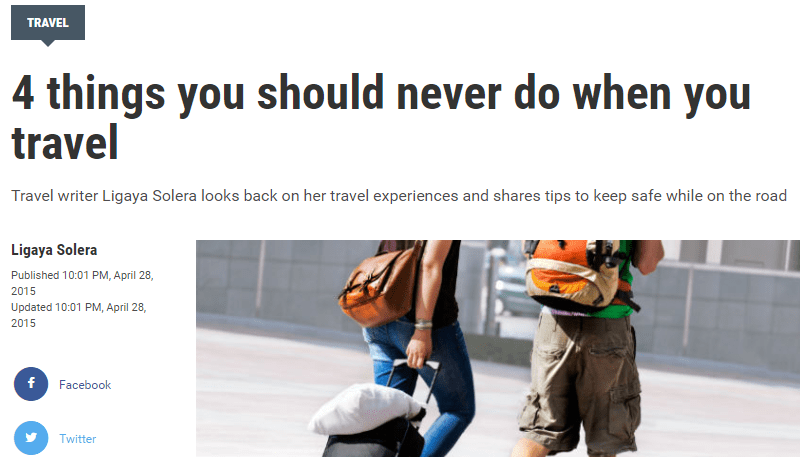 4 things you should never do when you travel