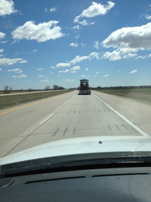 You will see semis with tractors, semis with hay, semis with cattle...