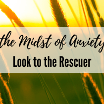 In the Midst of Anxiety – Look to the Rescuer