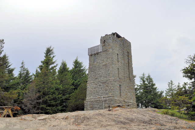Mt. Constitution tower on Orcas Island