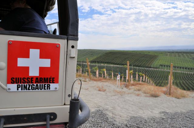 Owen Roe Winery's Swiss Army Pinzgauer for vineyard tours.
