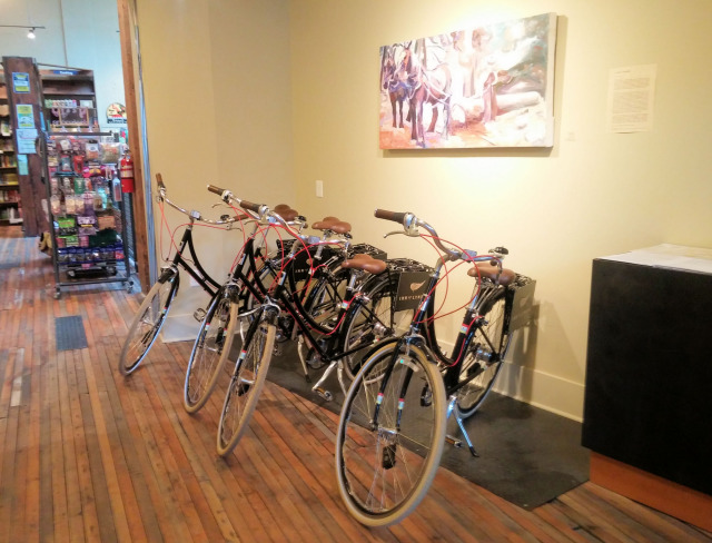 Complimentary bicycles at the Inn at Lynden.