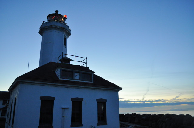 Sunset at Point Wilson Lighthouse at Fort Worden.