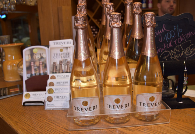 Sparkling wines at Treveri Cellars.
