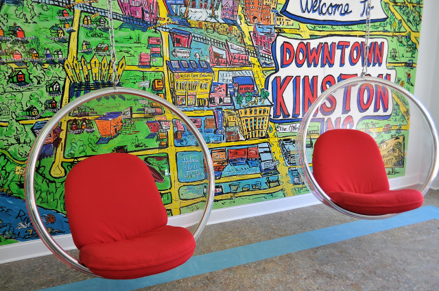 Mother Earth Motor Lodge 60s bubble chairs.