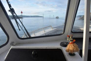 Go charter fishing in winter in Anacortes, Washington.