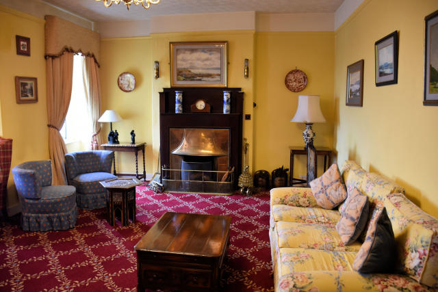 The sitting rooms at the Butler Arms Hotel in Waterville, Ireland.