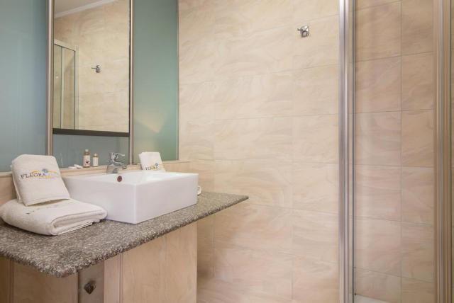 Bathroom at the Flegra Palace Hotel.