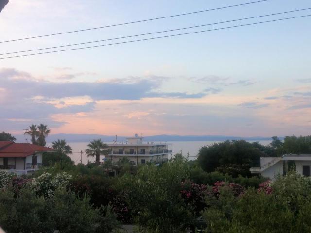 Balcony view at the Flegra Palace Hotel.