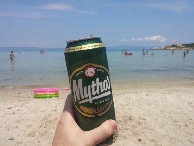 Mythos beer in Greece.