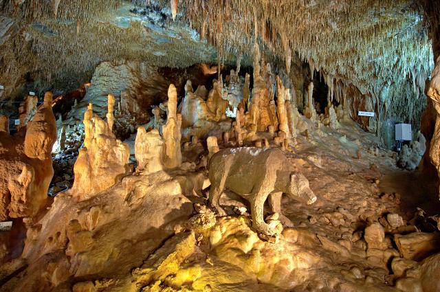 Petralona Cave in Halkidiki Greece.