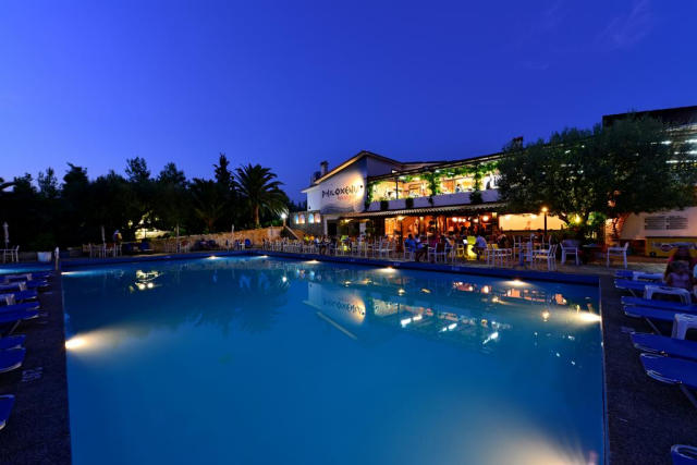 The pool at the Philoxenia Hotel in Halkidiki, Greece.