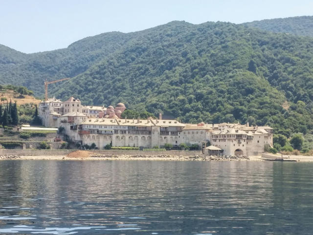 The monasteries of Mount Athos in Halkidiki Greece.