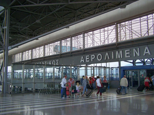 Airport terminal in Thessaloniki, Greece.